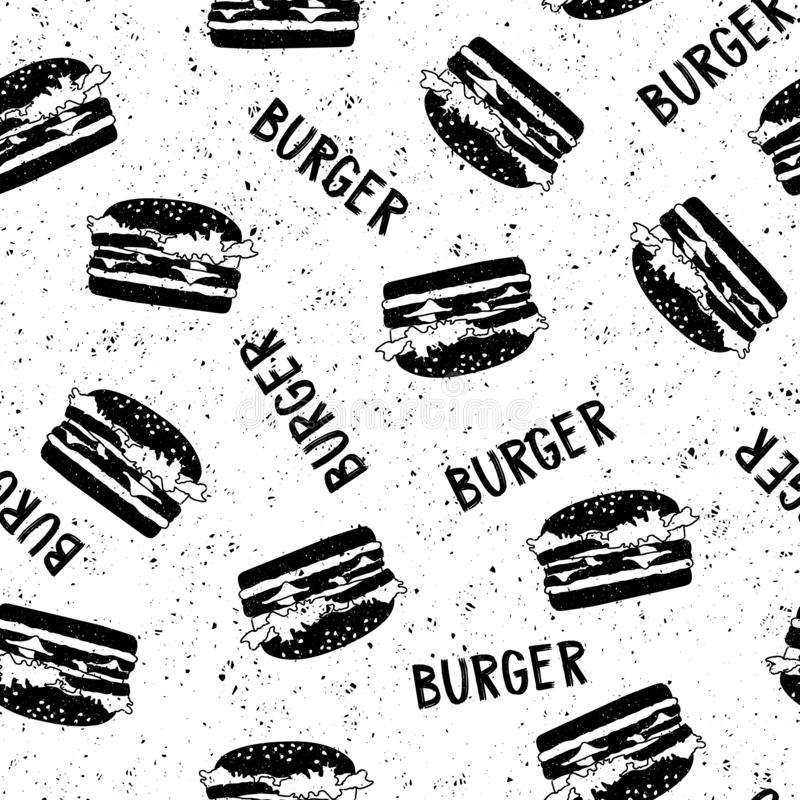 Deseniowy witn hamburger obraz stock