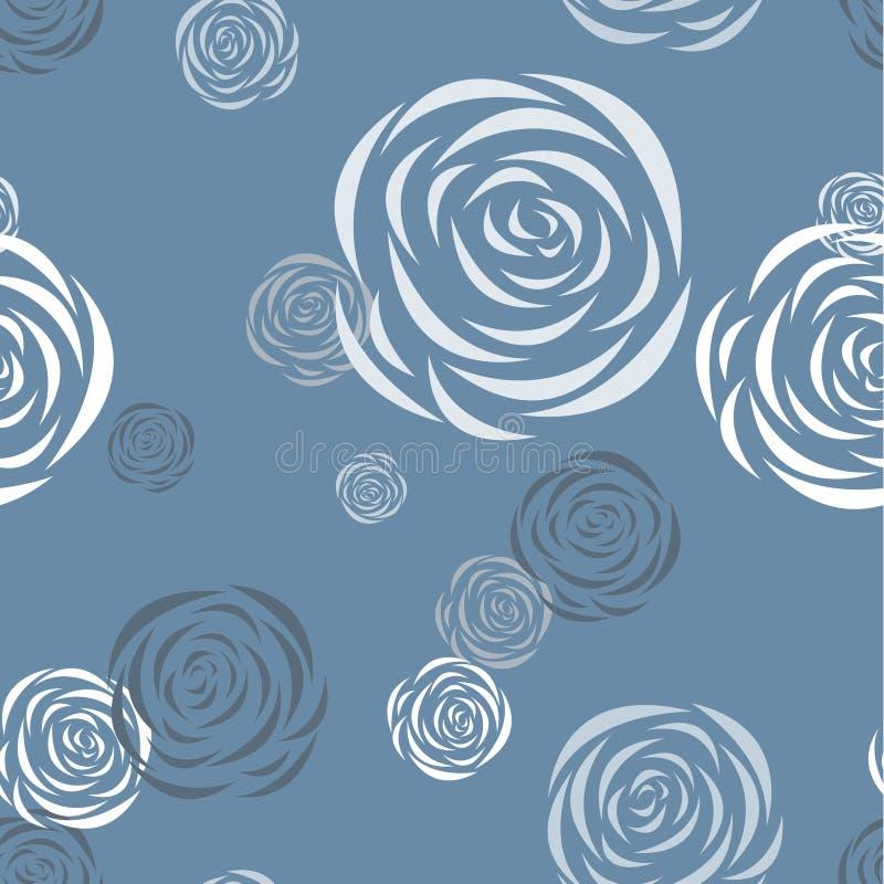 deseniowych róż bezszwowy stylizowany ilustracja wektor