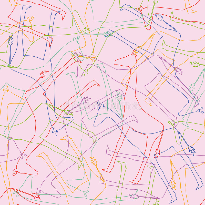 deseniują bezszwowego żyrafy ilustracji