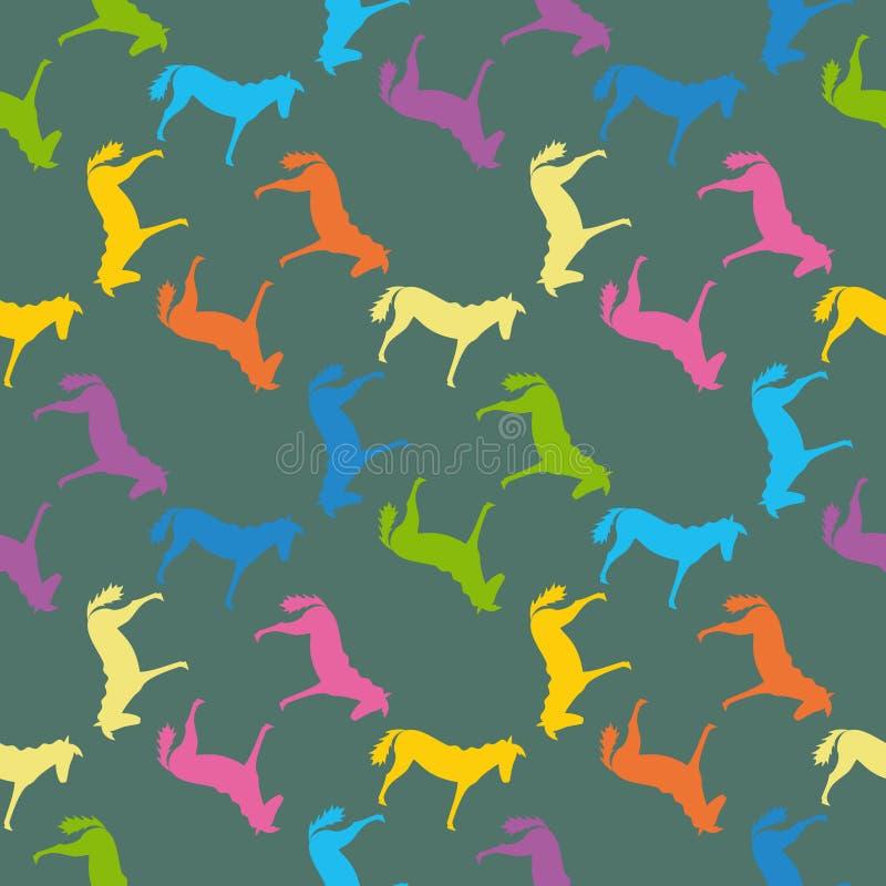 deseniują bezszwowego koni royalty ilustracja