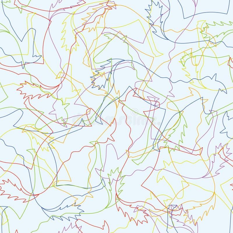 deseniują bezszwowego koni ilustracja wektor
