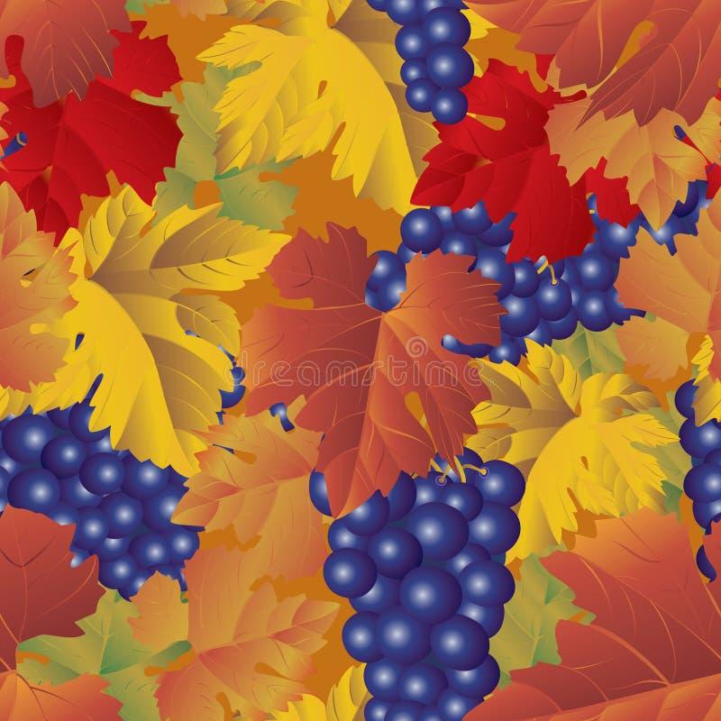 deseniują bezszwowego winogron ilustracja wektor