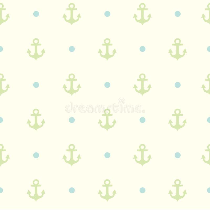 Deseniuje kotwicę dla tkaniny lub inny projekt ilustracji