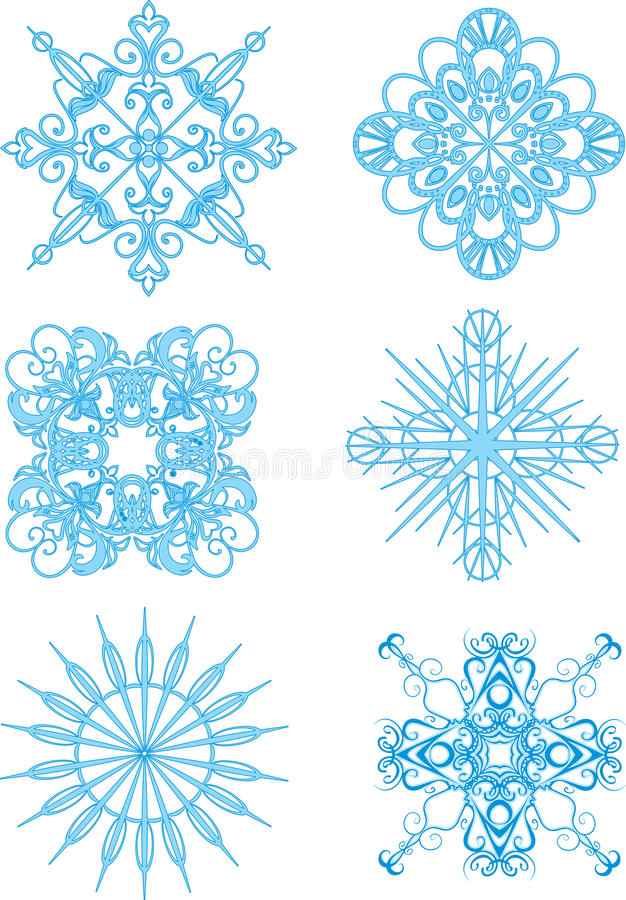 deseniuje płatek śniegu ilustracji