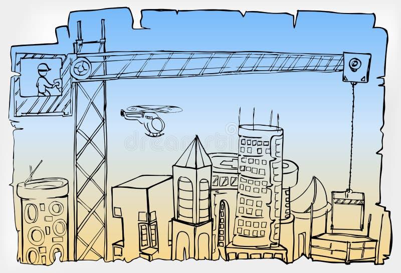 Desenvolvimento da cidade ilustração stock