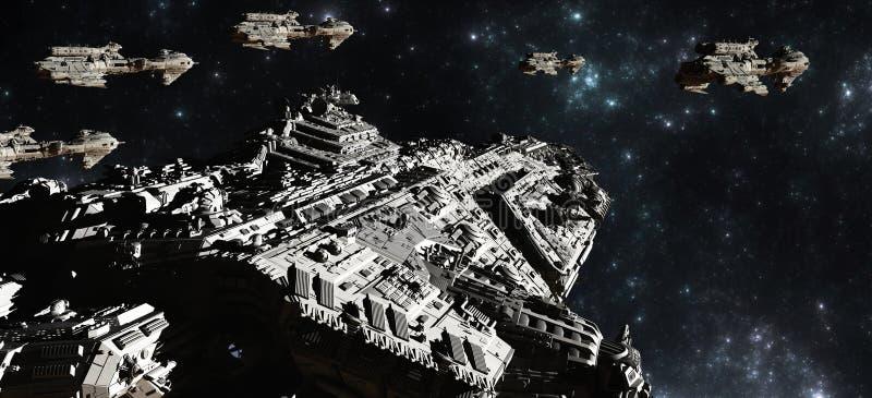 Desenvolvimento Da Frota Da Batalha Do Espaço Imagens de Stock