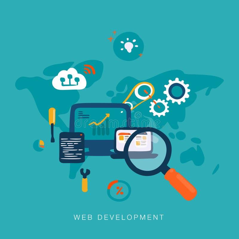 Desenvolvimento da Web ilustração royalty free