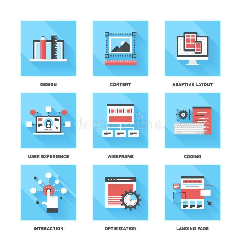 Desenvolvimento da Web ilustração stock