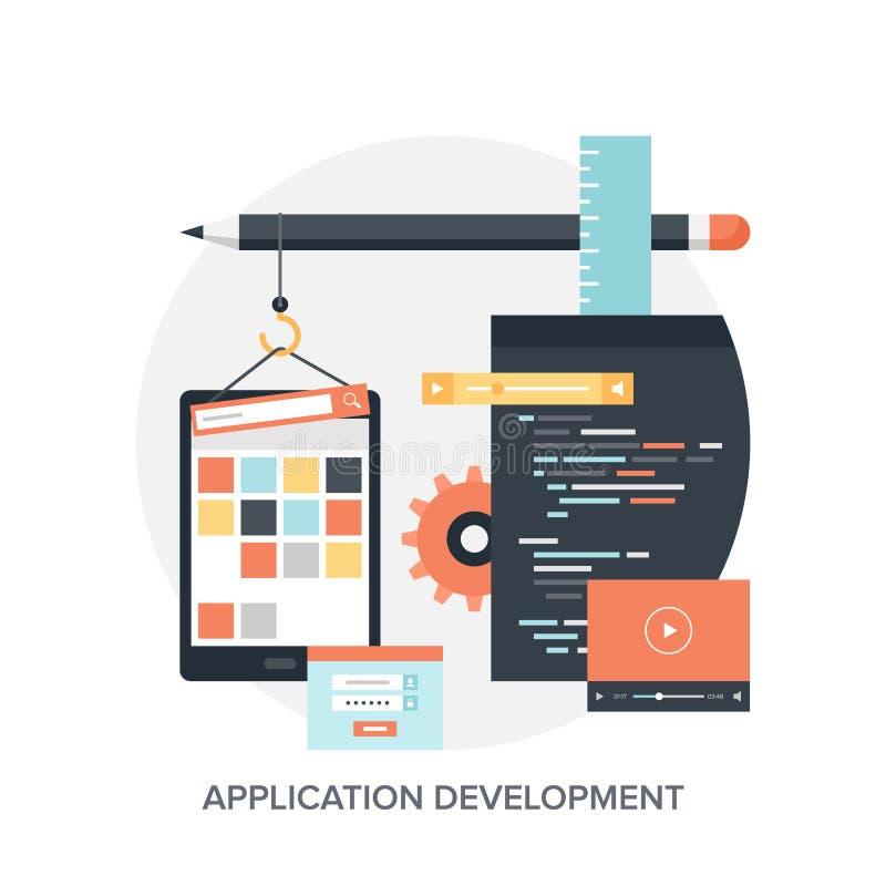 Desenvolvimento de aplicações ilustração do vetor