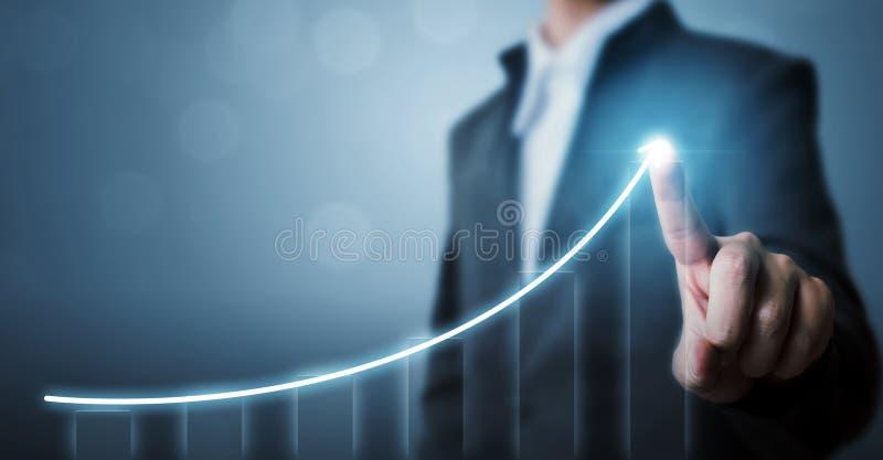 Desenvolvimento de negócios ao sucesso e ao conceito crescente do crescimento, Busi imagens de stock royalty free