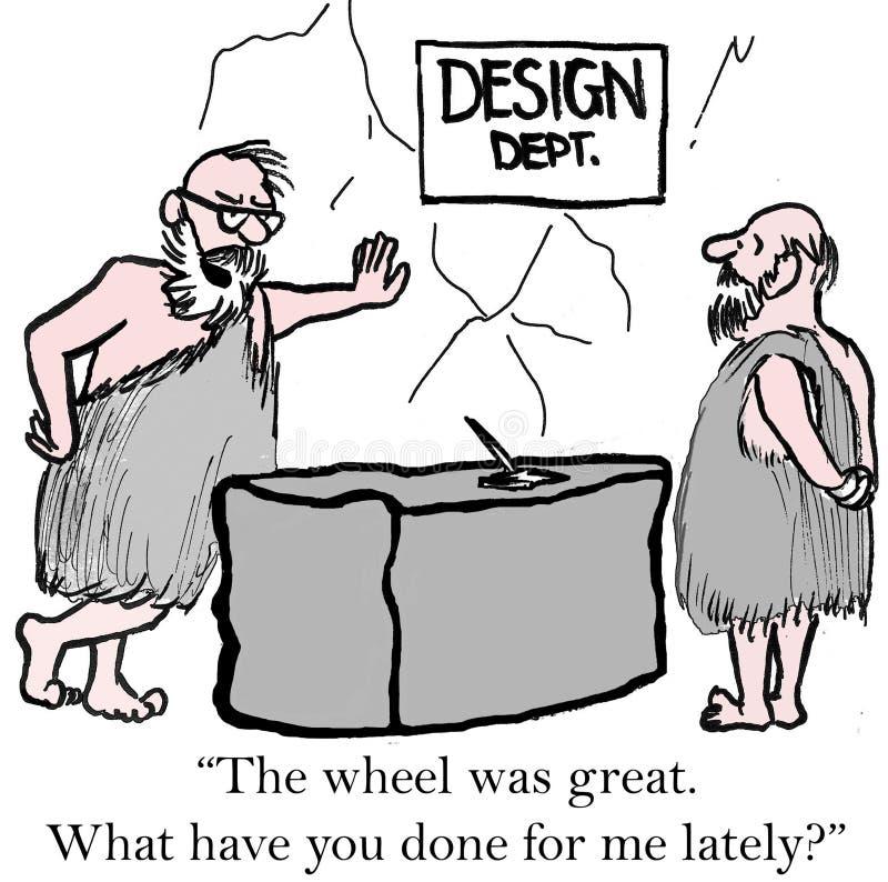 Desenvolvimento de produtos ilustração royalty free
