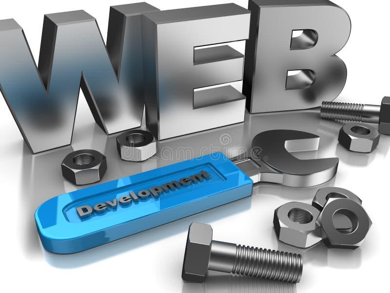 Desenvolvimento de tecnologia ilustração stock