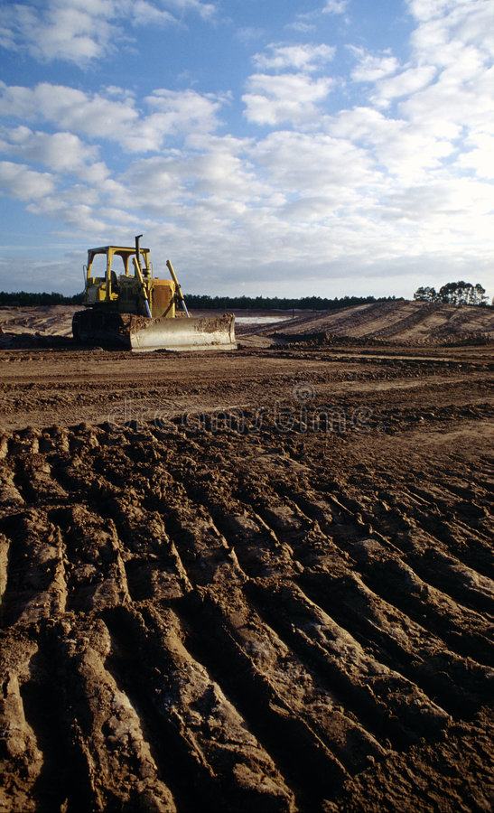 Desenvolvimento de terra foto de stock
