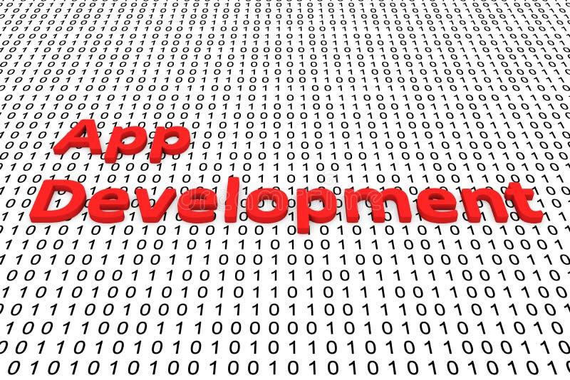 Desenvolvimento do App ilustração royalty free