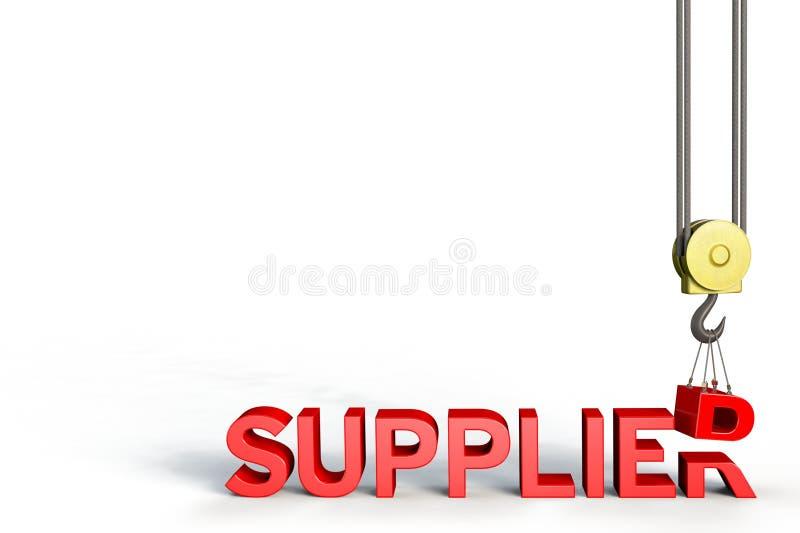 Desenvolvimento do fornecedor ilustração stock