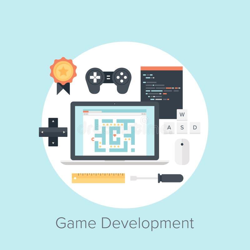 Desenvolvimento do jogo ilustração stock