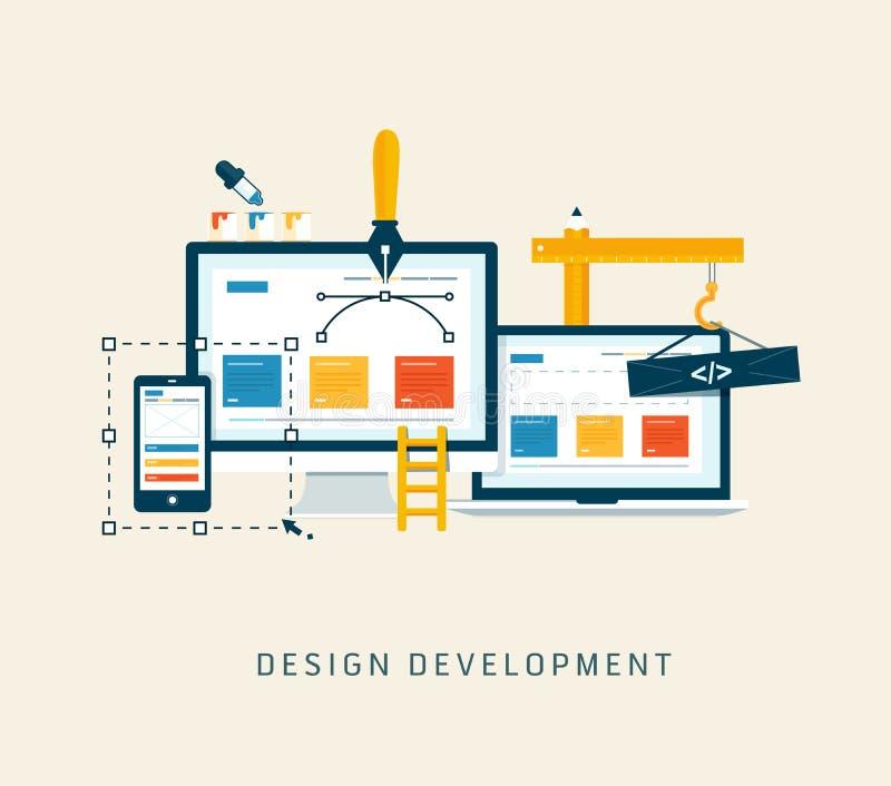 Desenvolvimento do projeto ilustração do vetor