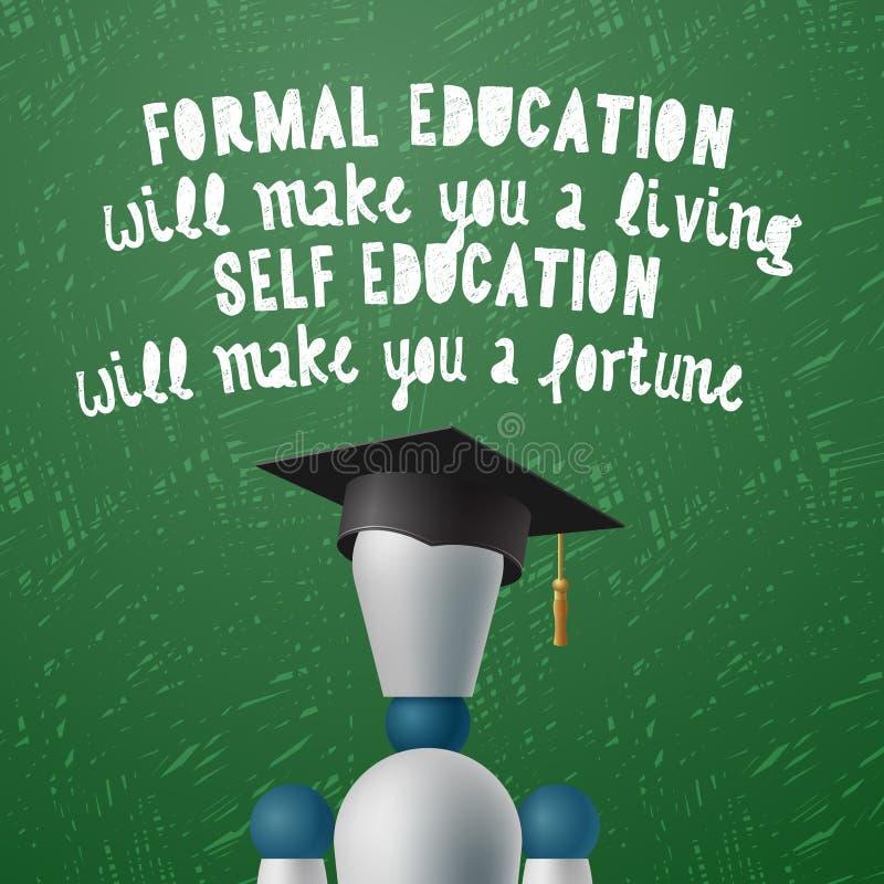 Desenvolvimento do treinamento, conceito da educação do auto ilustração royalty free