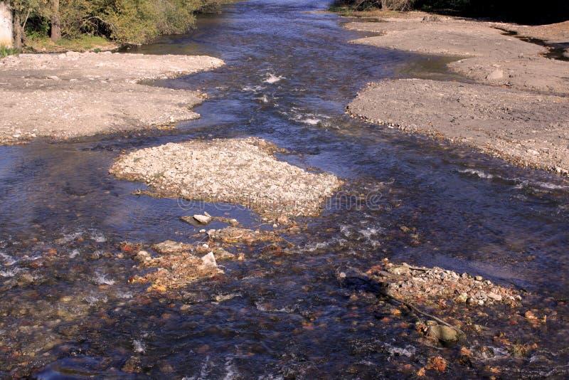 Desenvolvimento ecológico do rio imagens de stock