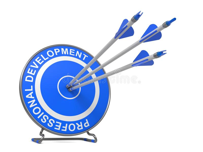 Desenvolvimento profissional.  Conceito do negócio. imagem de stock royalty free