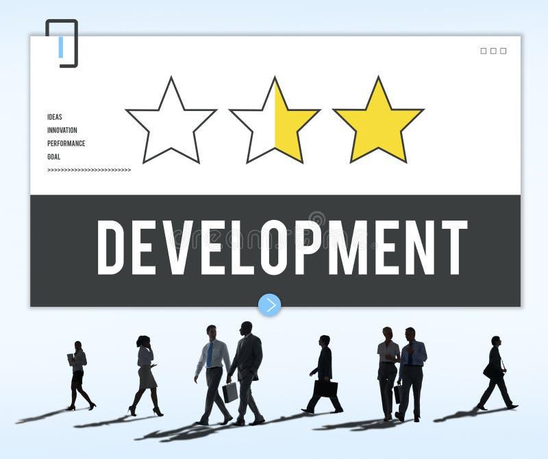 Desenvolvimento que aprende o conceito do treinamento do sucesso imagem de stock