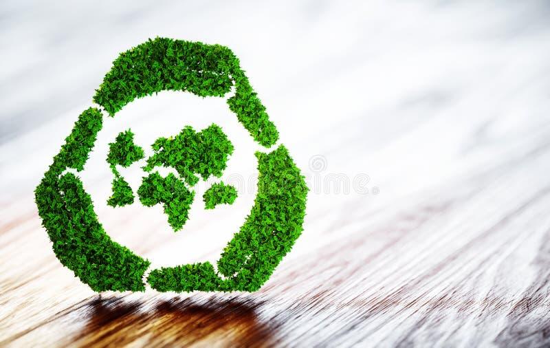 Desenvolvimento sustentável do mundo verde ilustração do vetor