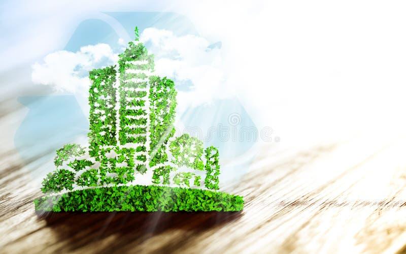 Desenvolvimento urbano sustentável ilustração do vetor