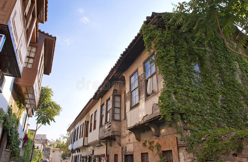 Desenvolvimento velho da cidade de Alanya foto de stock royalty free