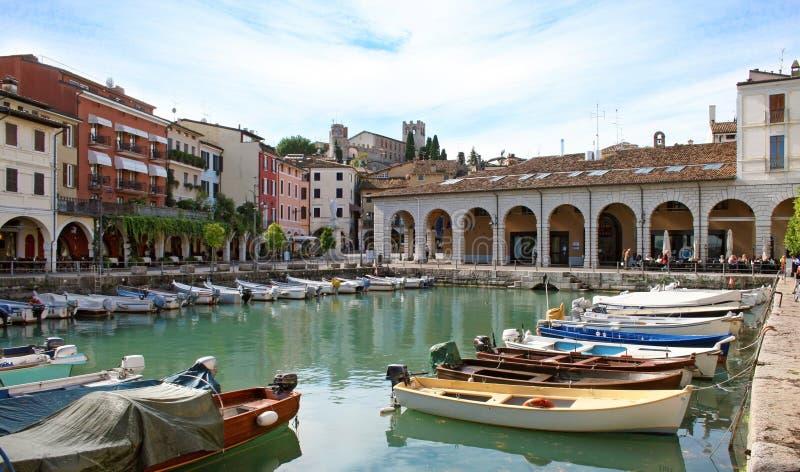 Desenzano schronienie, Jeziorny Garda obraz royalty free