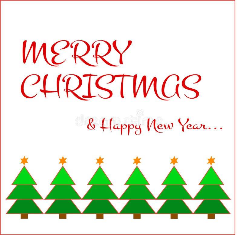 deseo de la Feliz Navidad stock de ilustración