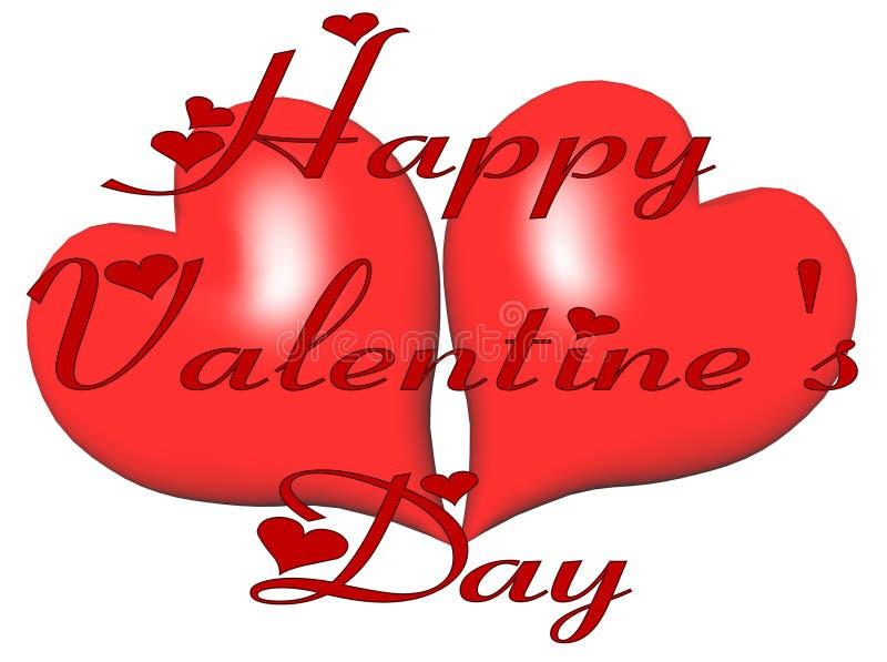 Deseo de la tarjeta del día de San Valentín stock de ilustración
