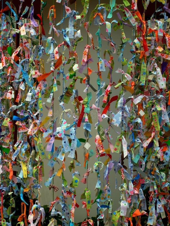 Deseos asiáticos del papel fotografía de archivo libre de regalías