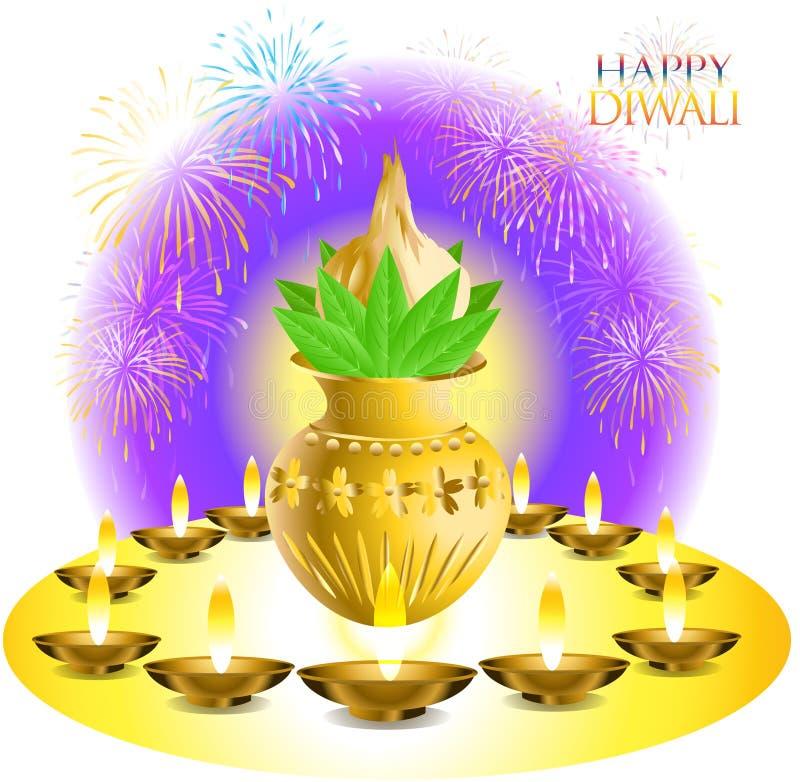 Deseos de Diwali ilustración del vector