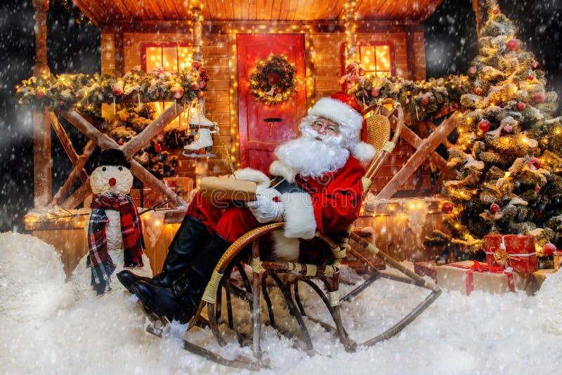 Deseos de la Navidad de la escritura foto de archivo