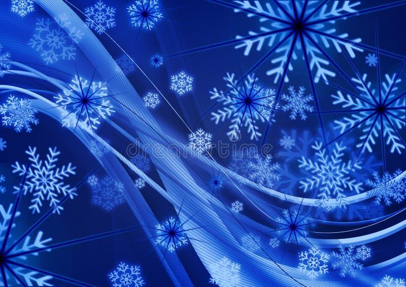 Deseos de la Navidad, nieve, fondo stock de ilustración