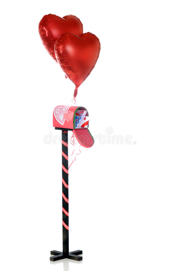 Deseos enviados de la tarjeta del día de San Valentín imagenes de archivo
