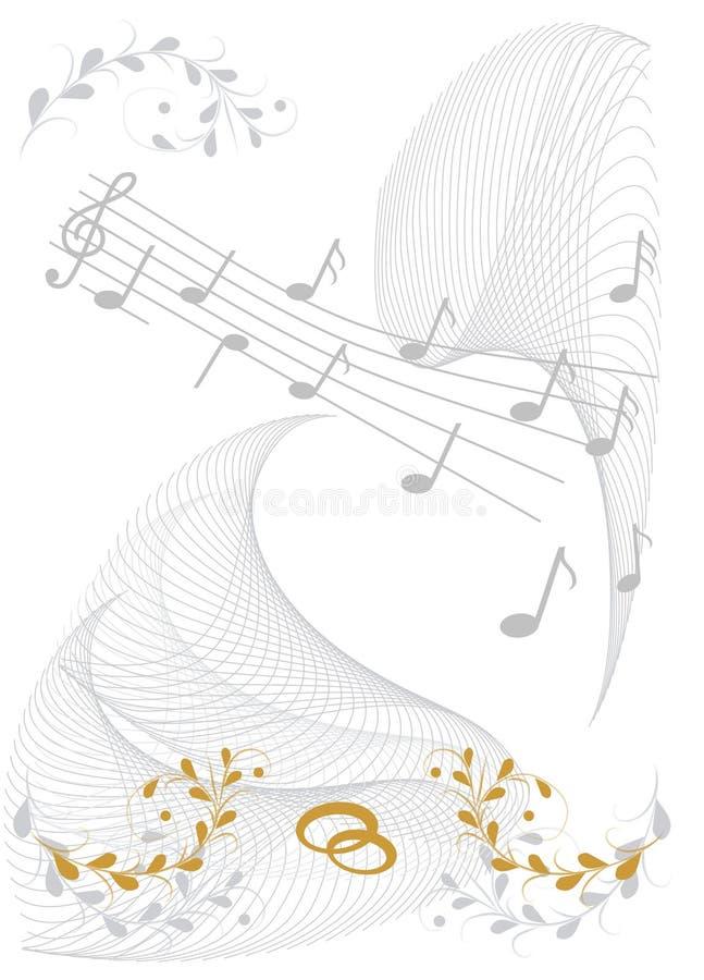 Deseos Wedding ilustración del vector