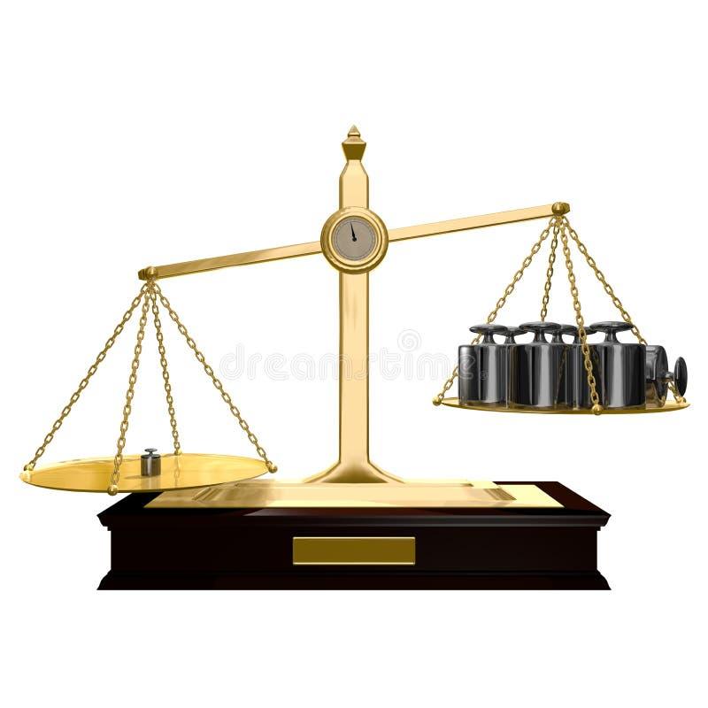 Desequilibrado stock de ilustración