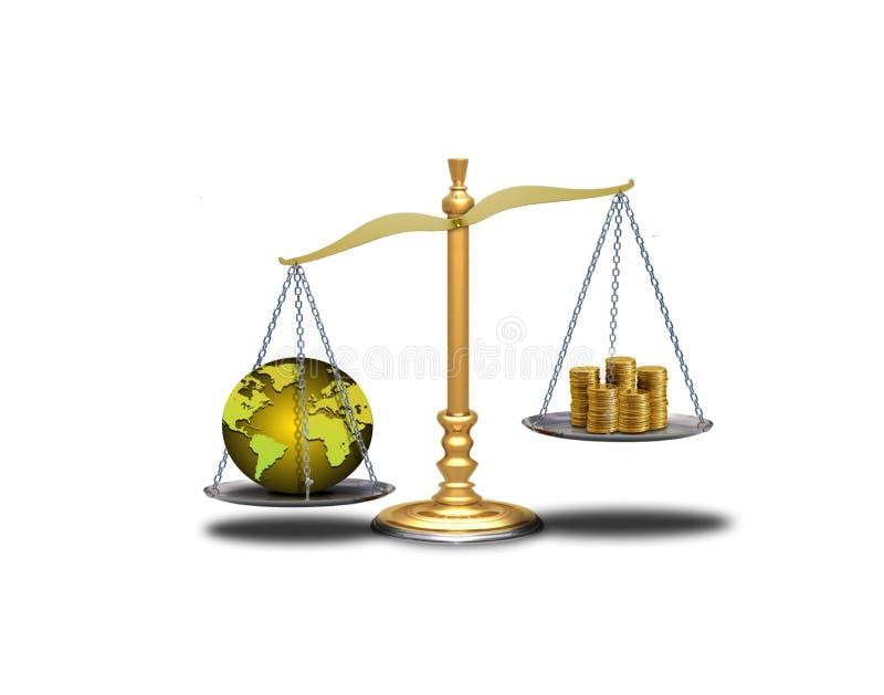 Desequilibrio del mundo ilustración del vector