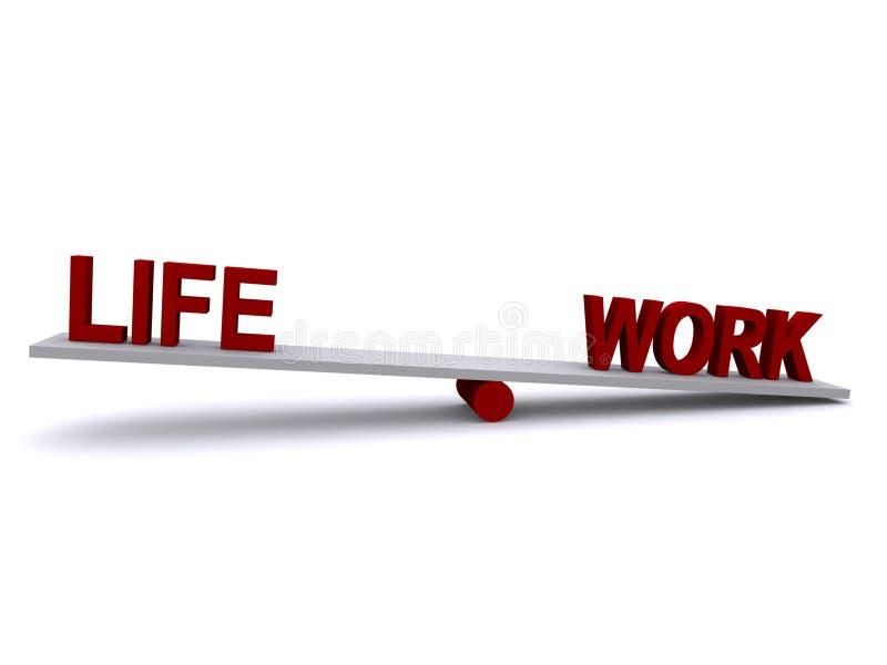 Desequilibrio del trabajo de vida ilustración del vector