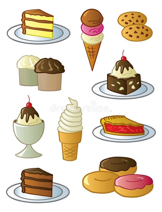 deserów cukierki ilustracja wektor