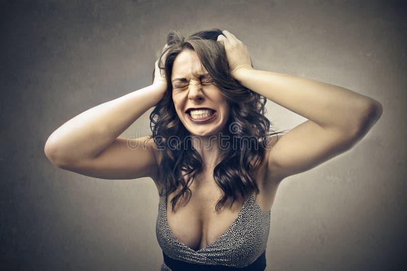Deserate kvinna arkivfoto