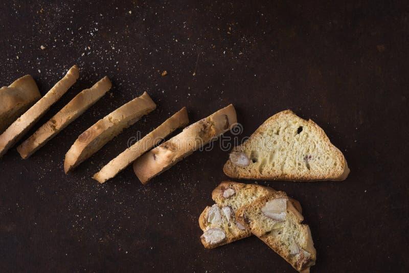 Deserowi ciastka z migdałami, torty Włoska tradycja zdjęcie stock
