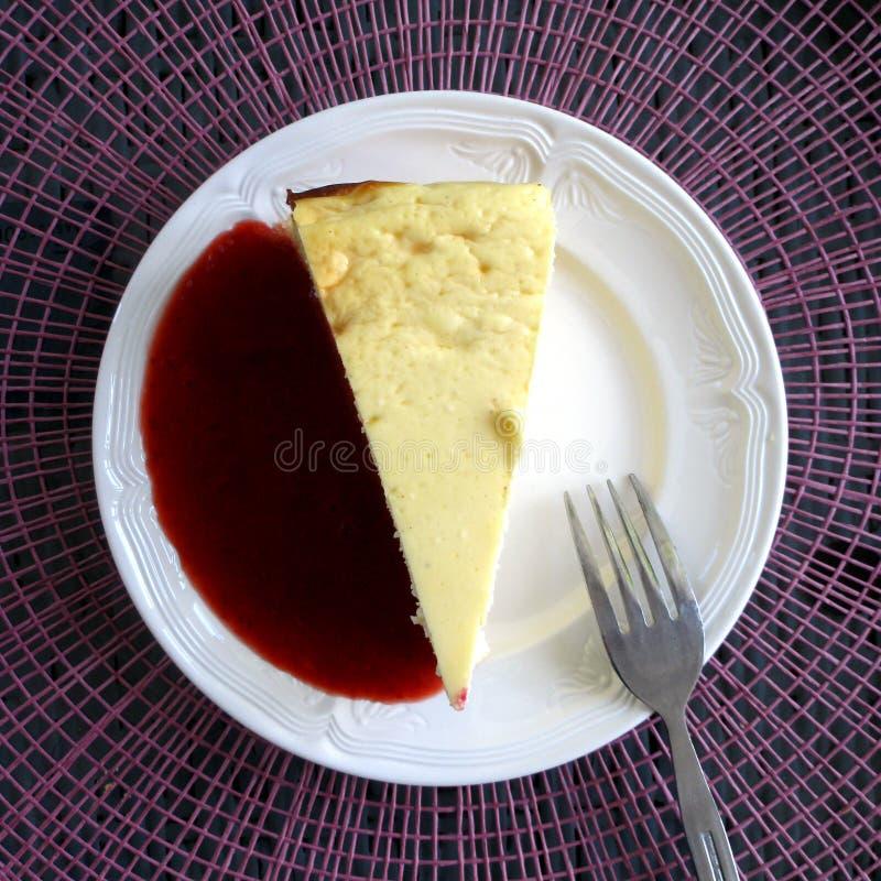 Deserowy chałupy cheesecake fotografia royalty free