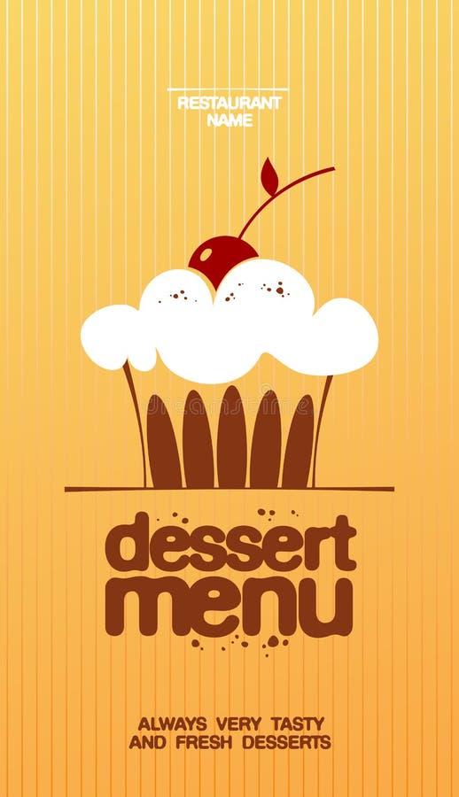 deserowy menu ilustracji