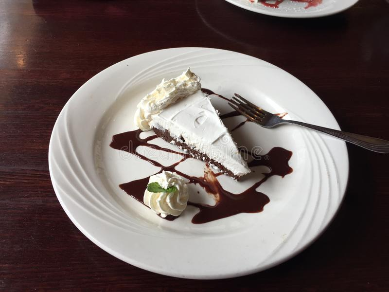 Deserowy Mousse tort obrazy stock
