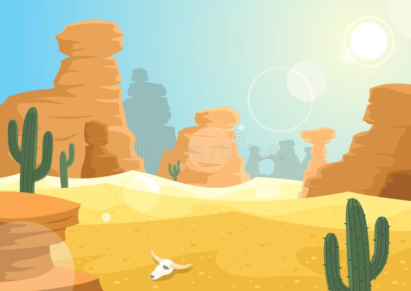 Desert. A desert landscape. No transparency used in the file