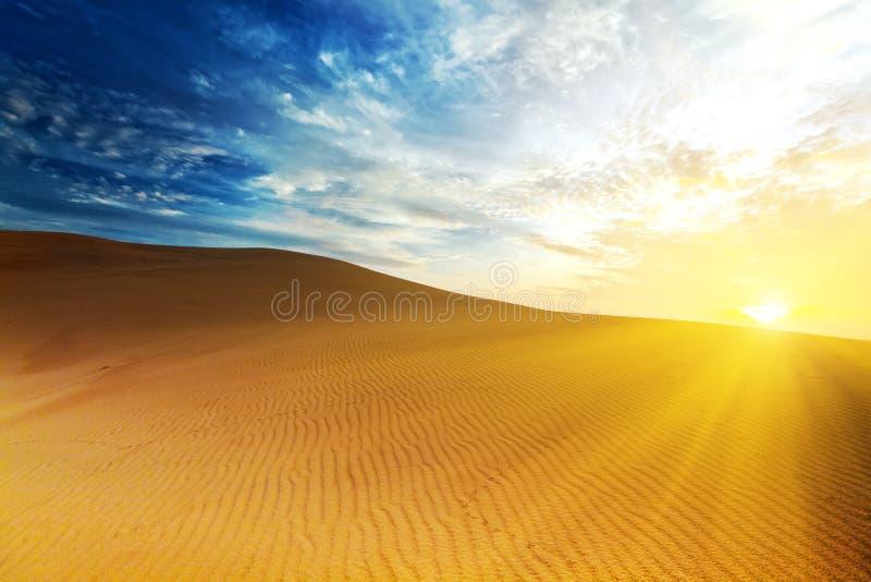 Desert. Sandy desert at sunrise time. Vietnam. Mui ne stock images