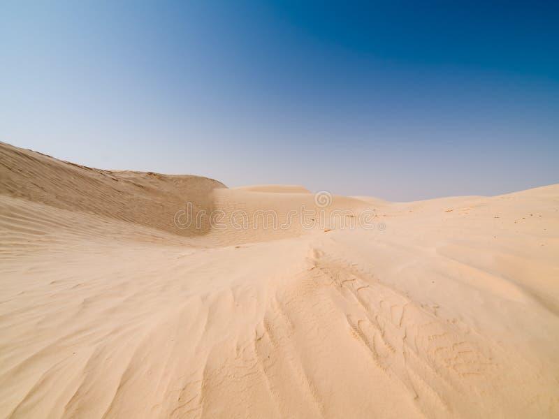 Desert. Empty desert and blue sky stock photography