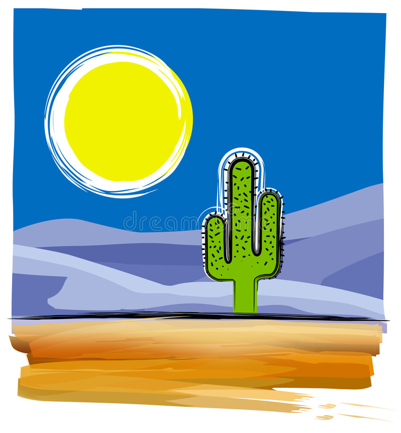 Desert vector illustration